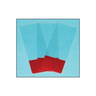 Red Frosted Glass Microscope Slides